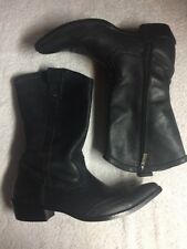 Harley-Davidson Women's Black Leather Slip On Boots Pointed Size Sz 7 M a