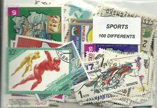 """Lot de 100 timbres thematique """" Sport"""""""