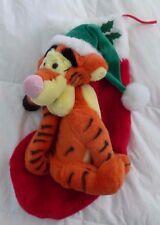 DISNEY Plush Santa Musical Tigger Christmas Stocking, Winnie the Pooh