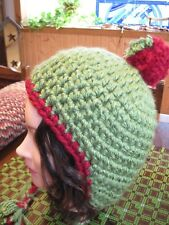 HANDMADE CROCHET HAT WITH EAR FLAPS AND TIES -   ADULT