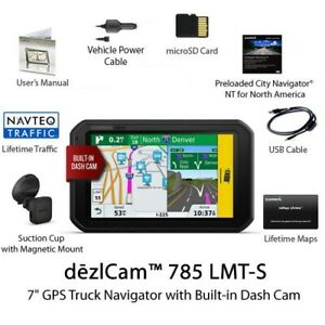 Garmin dezlCam 785 LMT-S 7 Inches Advanced GPS Truck Navigator with ELD INCLUDED
