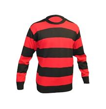 Boys Red And Black Stripe Knitted Jumper Childrens Long Sleeve Fancy Dress Top