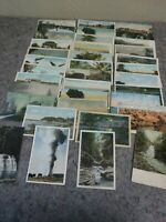 Lot of Antique Postcards Showing Scenery-Grand Canyon-Niagara-Yellowstone
