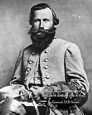 New 8x10 Civil War Photo: CSA Gen. James Ewell Brown (JEB) Stuart with Quote