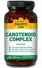 Country Life Carotenoid Complex with Lutein, Lycopene and Astaxanthin, 60 Softge
