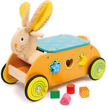 Motorikwagen Hase Laufwagen Steckspiel Lauflernwagen Kinder Steckspielzeug Neu