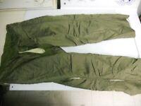 US Military Korean Era M-1951 Wool Mohair Field Trouser Pants Liner MED Long