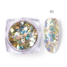 BORN PRETTY 3g Nail Glitter Sequins Shining Irregular Flakes 3D Nail Art DIY #3
