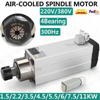 CNC Spindle Motor 300Hz Air-cool VFD Inverter 1.5KW/2.2KW/3.5KW/4.5KW/6KW/7.5KW