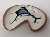 Vintage Mid Century STANGL Swordfish Curved Nut Candy Console Dish