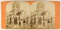 Rouen Eglise st.Vincent Francia Foto Neurdein Stereo Vintage Albumina c1875