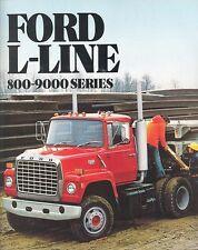 1982 Ford L Line-Series 800-9000 Series Truck Dealer Sales Brochure