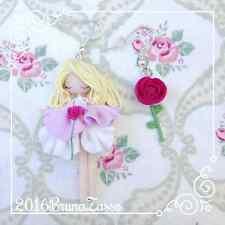 Orecchini Aurora ~ Cute Sleeping Beauty Earrings Disney Fimo Polymer Clay Kawaii