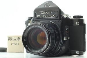 """Exc+5""  PENTAX 6x7 67 Eye Level Camera + SMC Takumar 105mm F2.4 Lens From JAPAN"