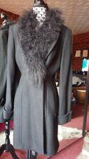 Manteau col fourrure amovible, T36