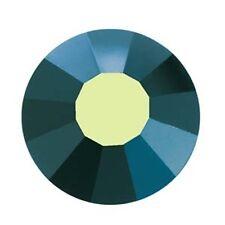 Viva Flat Backs Preciosa Crystal 30SS 6.4mm 37708 (12) Jet Black AB Rhinestone