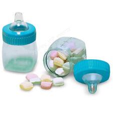 Amscan Plastic Fillable Bottles Favours Baby Blue