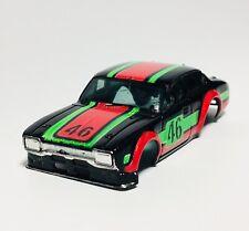 Aurora AFX Ford Escort Body, Black/Red/Green, fits AFX G-Plus / AFX MT Chassis
