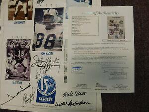 Ernie Davis Award Signed Poster Jim Brown, Tommy McDonald, John Mackey ; 9 sign