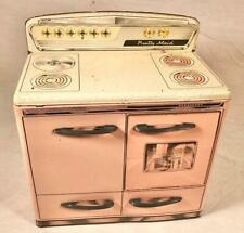 VINTAGE PRETTY MAID TIN LITHO TOY KITCHEN STOVE