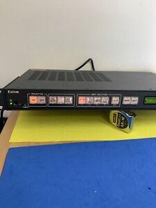 NEW EXTRON SYSTEM 5 IP AUDIO VIDEO SWITCHER 5 INPUT RACK MOUNT