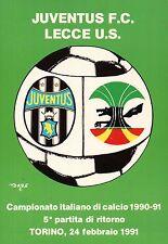 CARTOLINA SPORT JUVENTUS F.C - LECCE U.S.  CAMPIONATO DI CALCIO 1990-91 C6-362