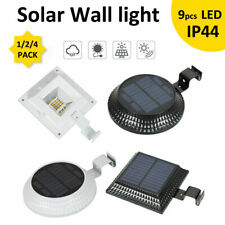 1/2/4 Pack Solar LED Light Outdoor Garden Security Wall Fence Gutter Yard Lights
