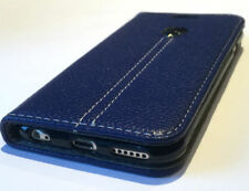 Blue Synthetic Leather Mobile Phone Flip Cases