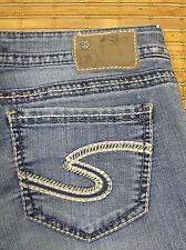 Silver Jeans SANTORINI W29xL27 Low Rise Slimmer Fit Stretch Cuff Crop Sz SSR185