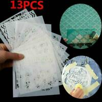 13x Embossing Template Scrapbooking Walls Painting Layering Stencils DIY Set AU!