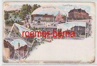 """73984 Ak Lithografie Gruss aus Landau Institut Becht, An """"44"""" usw. um 1900"""