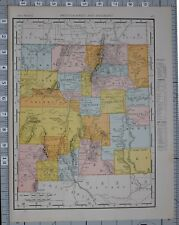 1906 MAP UNITED STATES NEW MEXICO COUNTIES & CITIES GUADALOUPE ALBUQUERQUE