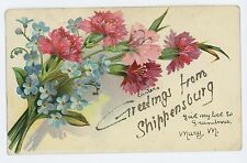 Glitter Greetings from SHIPPENSBURG PA Vintage Cumberland County Postcard