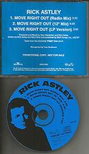RICK ASTLEY Move Right Out RADIO MIX & 12 INCH MIX PROMO DJ CD single 1991 USA