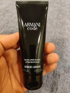 New Armani Code After Shave Balm For Men Giorgio Armani 2.5 Fl 75 Ml - FAST SHIP