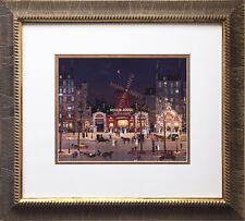 "Michel Delacroix ""Moulin Rouge a La Nuit"" Newly CUSTOM FRAMED Print Lithograph"
