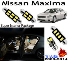17 Bulbs White Car LED Dome Light Kit Xenon Lamps For Nissan Maxima 2009-2014