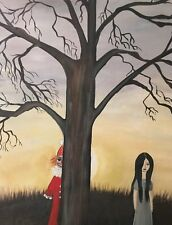 VYCKIE VAN GOTH art print Clown And LOst Girl 8X10 SIGNED Gothic Lowbrow