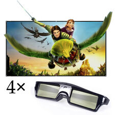 4× Active Shutter 3D Glasses Universal for DLP-Link 3D Projector Home Cine