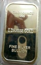 Willie: Suisse Gold 1oz Silver bar
