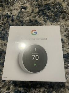 Brand NewNest Google Learning Thermostat 3rd Gen in Mirror Black Model # T3018US