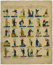 Antique Print-CATCHPENNY-PROVERBS-Anonymous-ca. 1840
