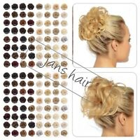 KOKO Hair Scrunchie Wrap Curly or Wavy Messy Bun Updo Hairpiece Various Natural