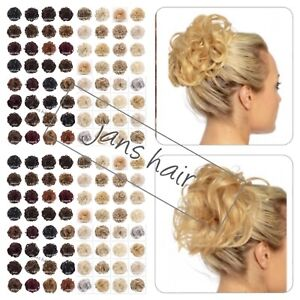 KOKO Hair Scrunchie Wrap Large Curly or Wavy Messy Bun Updo Hairpiece Natural