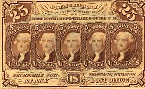 Fr. 1281 Series 1862 United States Twenty Five Cents 25C Fractional Note