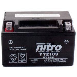 Motorrad Batterie Nitro YTZ10S GEL geschlossen, 12V 8,6Ah CCA:190A (150x87x93mm)