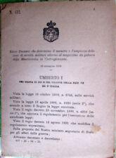 ✅1896/432 Regio Decreto determina servitù militari Misericordia Castrogiovanni