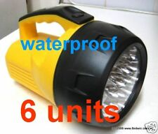 6 Units of Powerful 16 Led Handle Torches - Waterproof