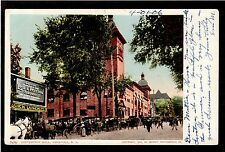 1904 Lea & Perrins cafe advertising Convention Hall Saratoga New York postcard