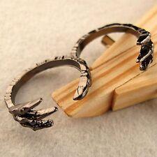 Punk Goth Biker gótico negro Garra de doble anillo de dedo